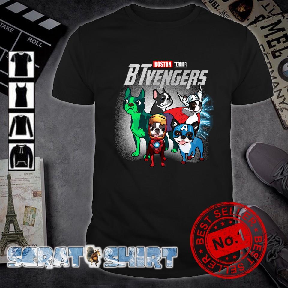 Boston Terrier Marvel Avengers BTvengers shirt