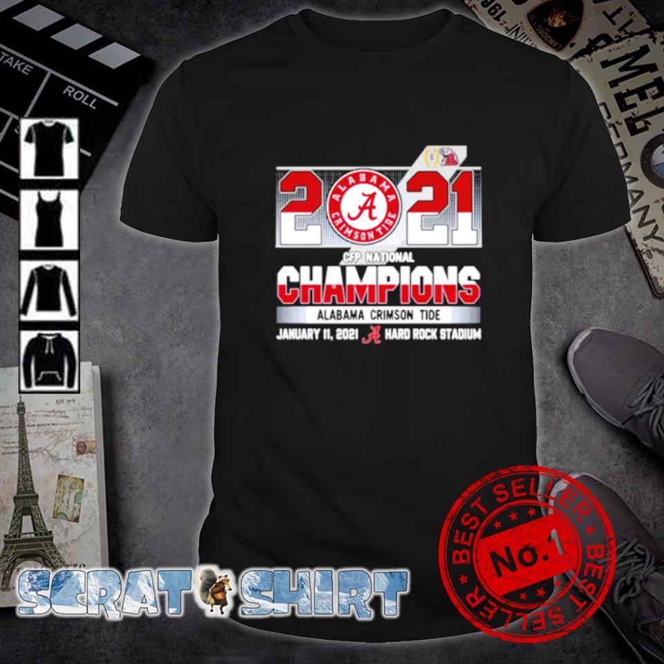 CFP Alabama 2021 national champion hard rock stadium shirt