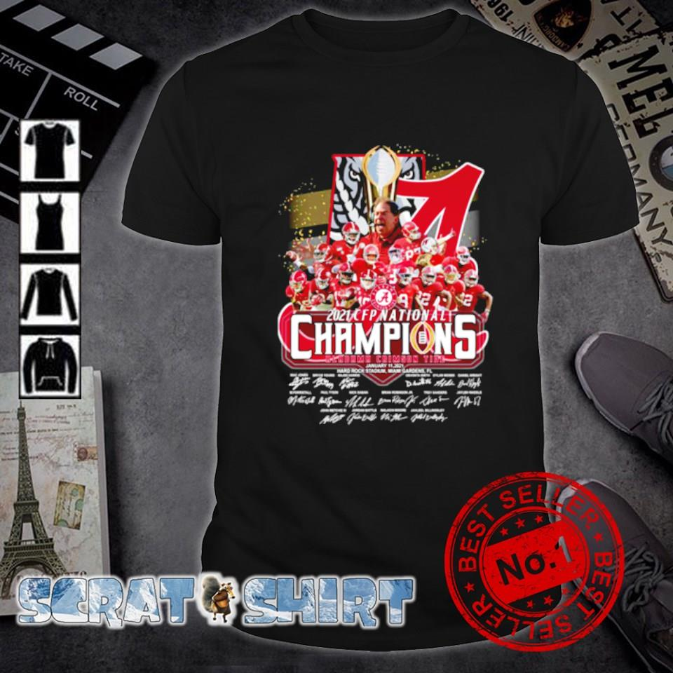CFP national champions 18 time Alabama 2021 players signature shirt
