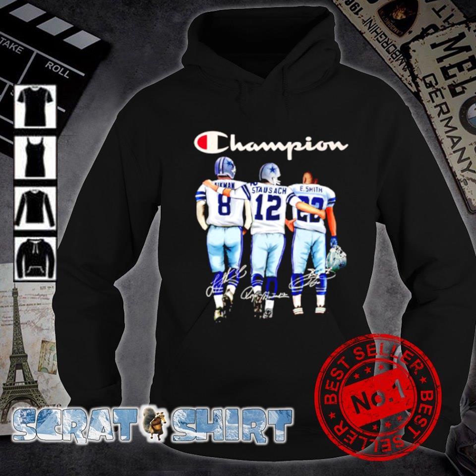 Dallas Cowboys champion Aikman Staubach Smith signature s hoodie