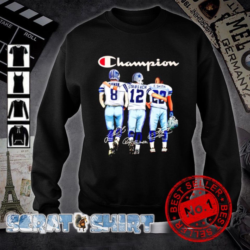 Dallas Cowboys champion Aikman Staubach Smith signature s sweater