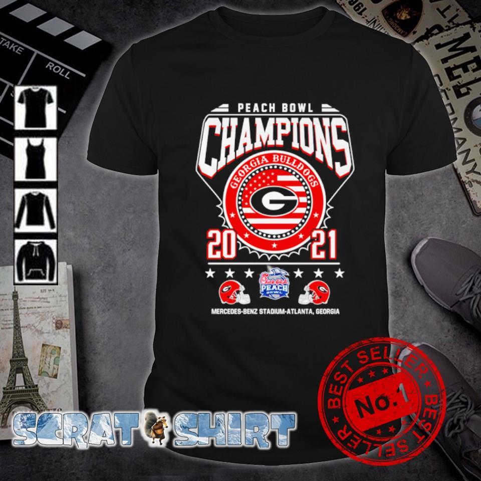 Georgia Bulldogs peach bowl champions 2021 shirt