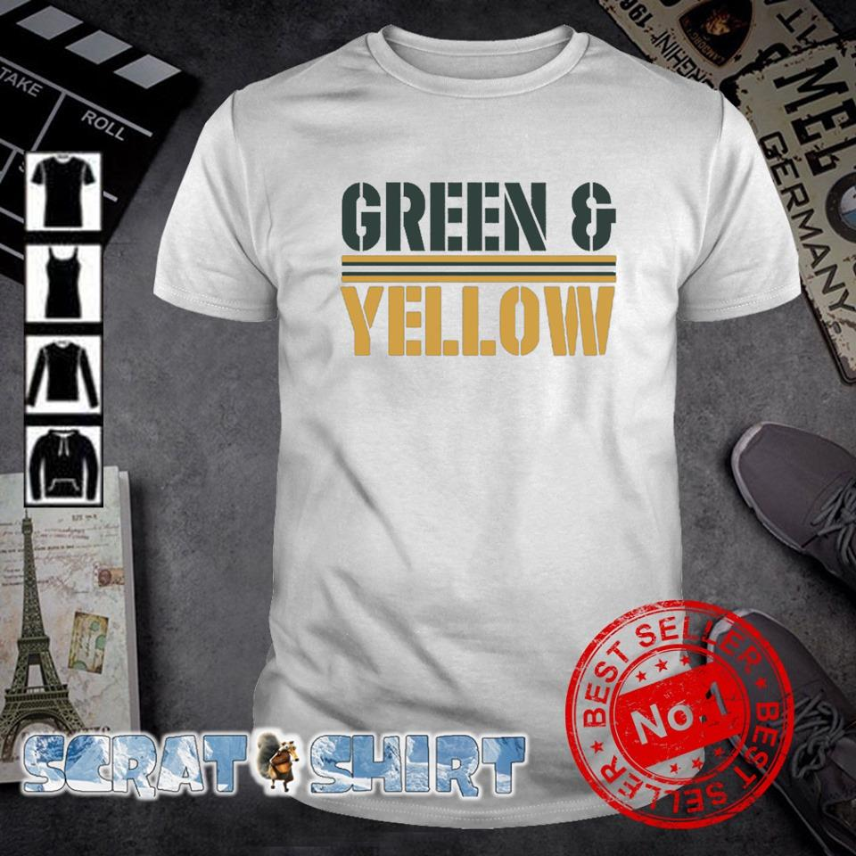 Green and Yellow Packers shirt