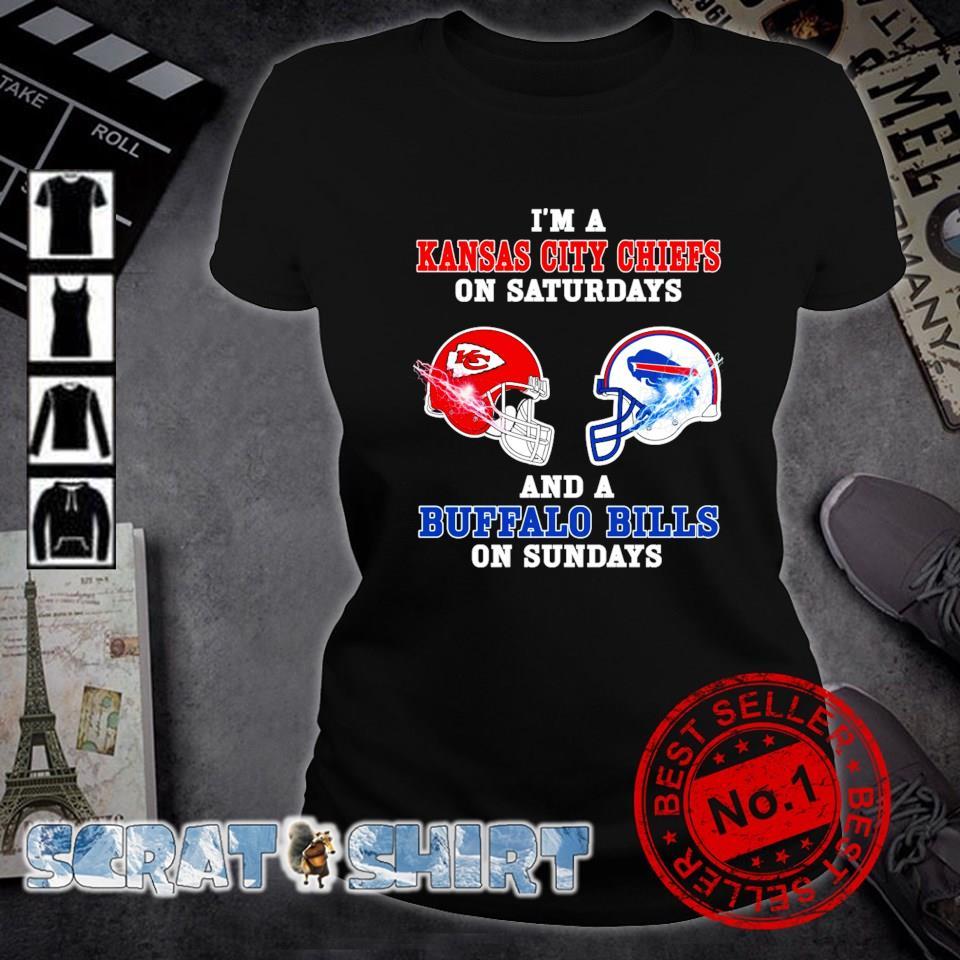I'm a Buffalo Bills on sundays and a Kansas City Chiefs on saturdays s ladies-tee