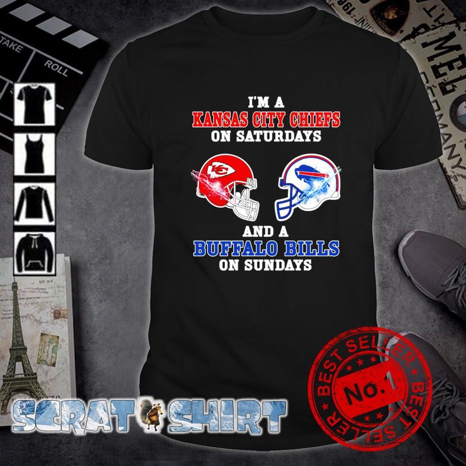 I'm a Buffalo Bills on sundays and a Kansas City Chiefs on saturdays shirt