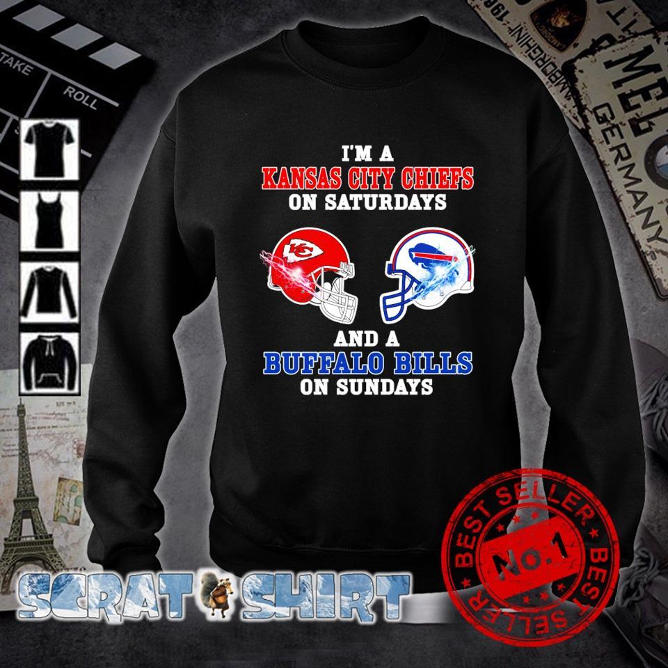 I'm a Buffalo Bills on sundays and a Kansas City Chiefs on saturdays s sweater