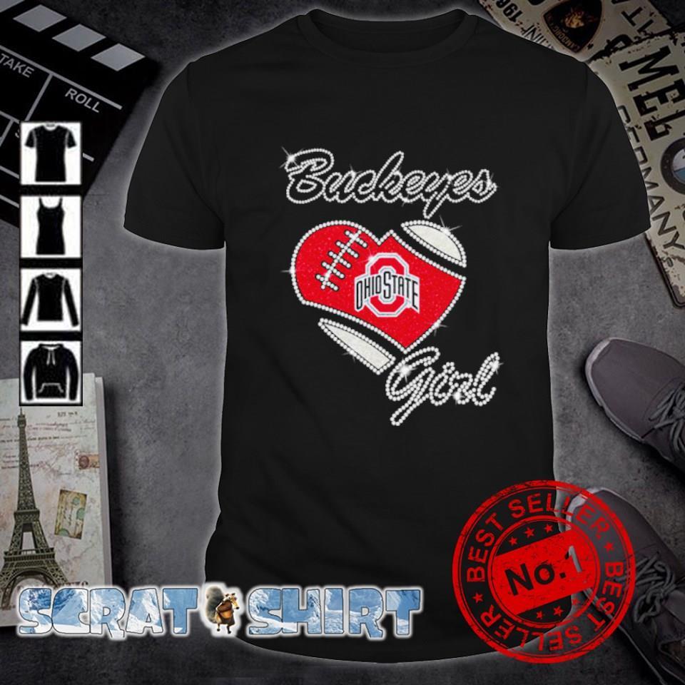 Ohio State Buckeyes girl heart diamond shirt