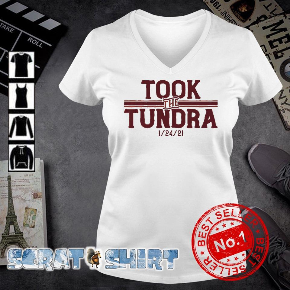 Tampa Bay went to Green Bay and took the tundra s v-neck t-shirt
