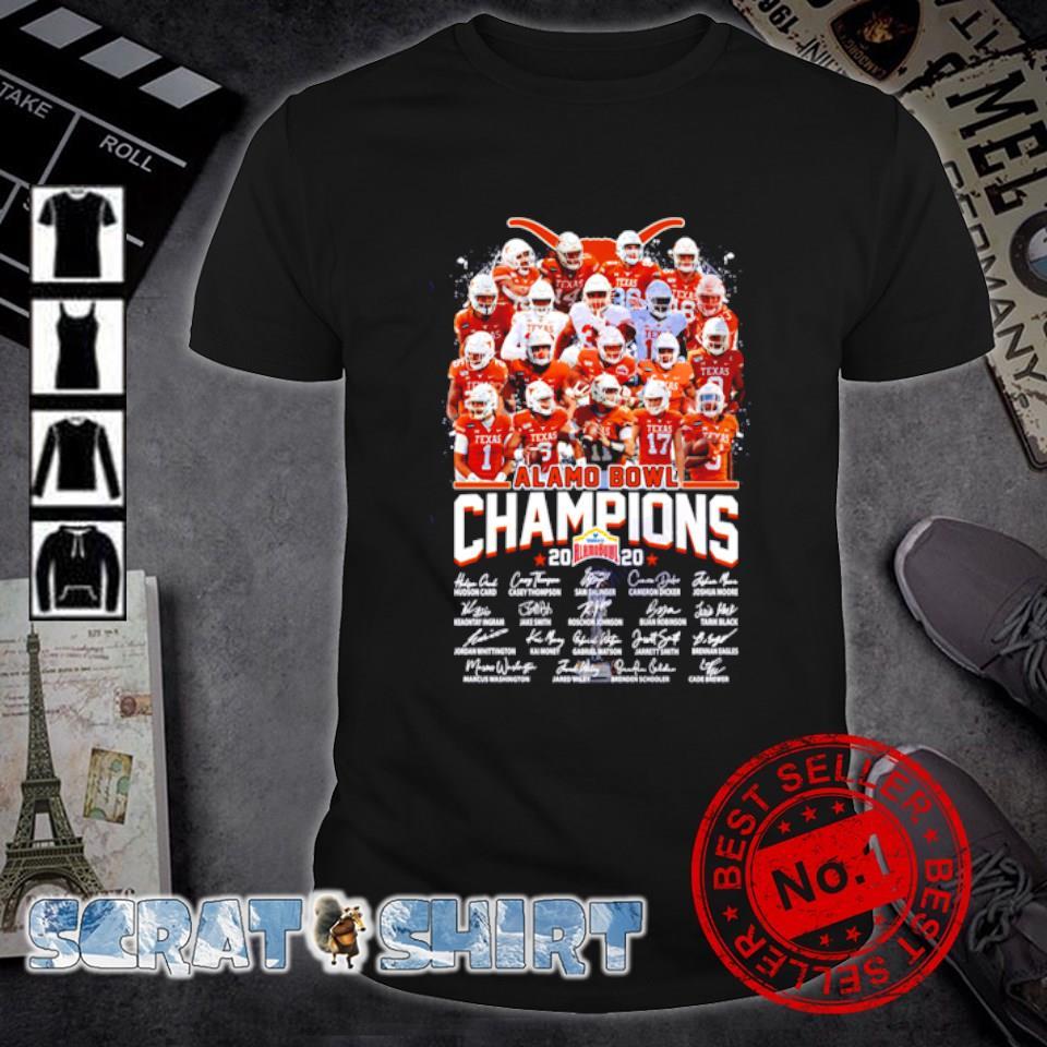 Texas Longhorns alamo bowl champions 2020 signature shirt
