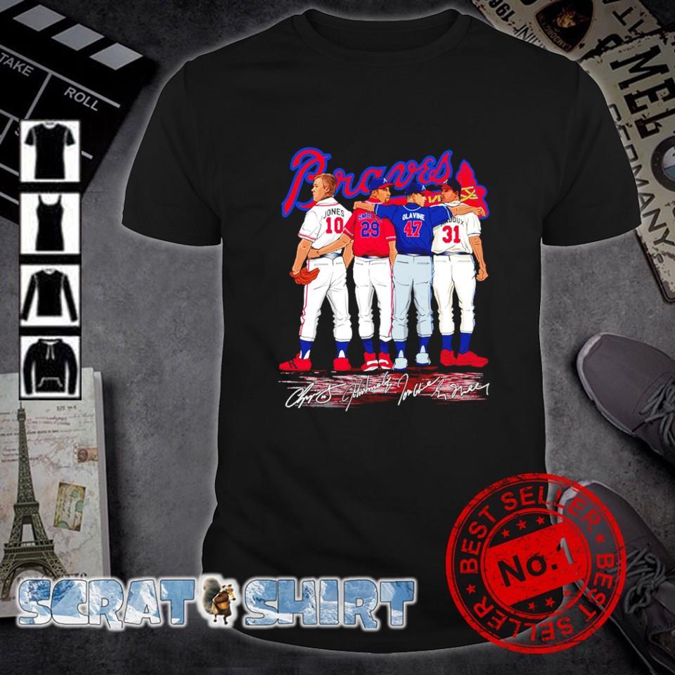 Atlanta Braves best players Jones Smoltz Glavine Maddux shirt