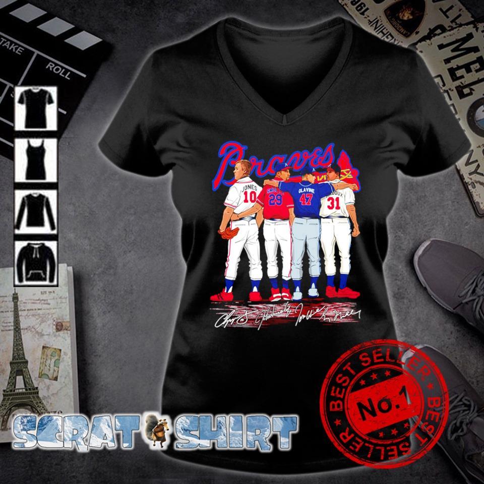 Atlanta Braves best players Jones Smoltz Glavine Maddux s v-neck t-shirt