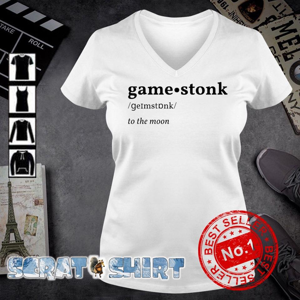 GameStonk Gamestop to the moon s v-neck t-shirt