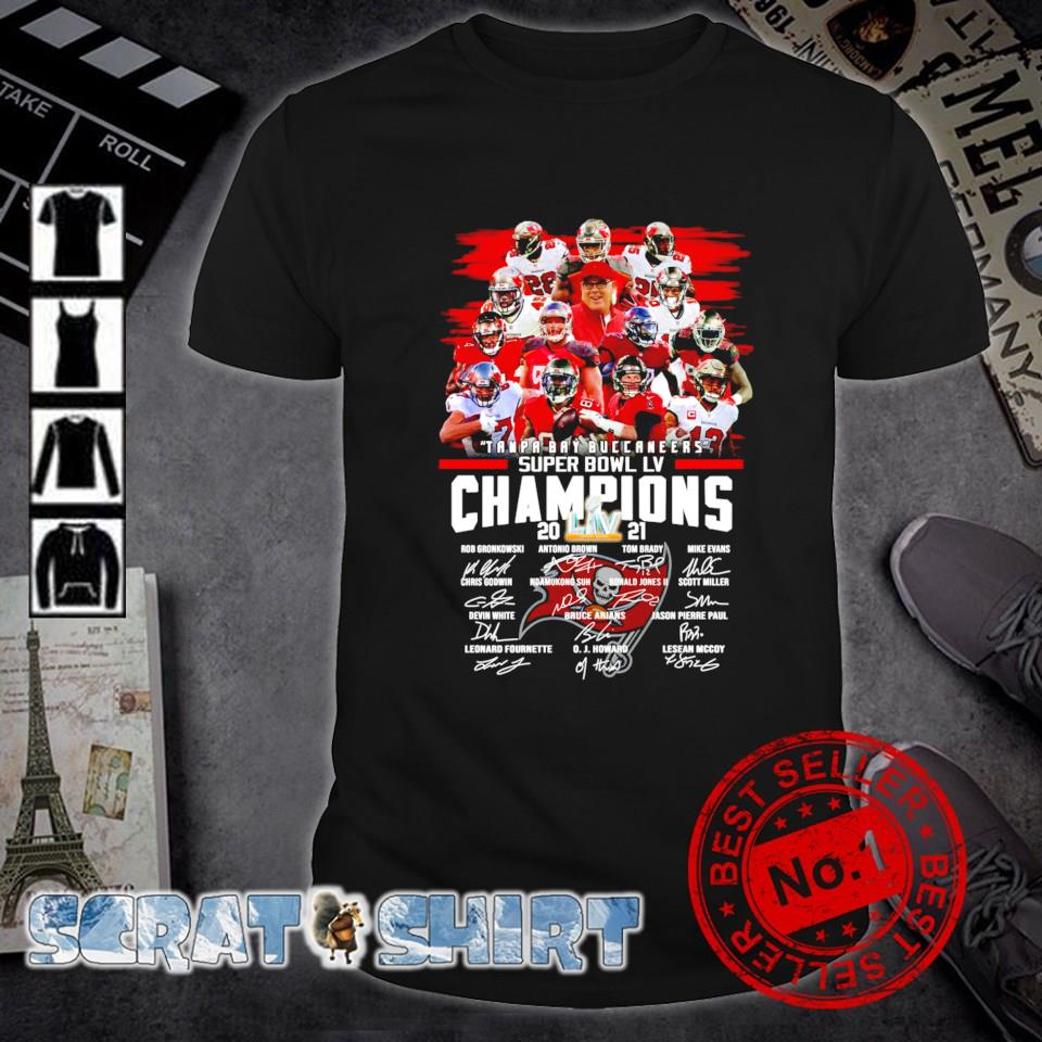 Tampa Bay Buccaneers super bowl champions 2021 players signature shirt